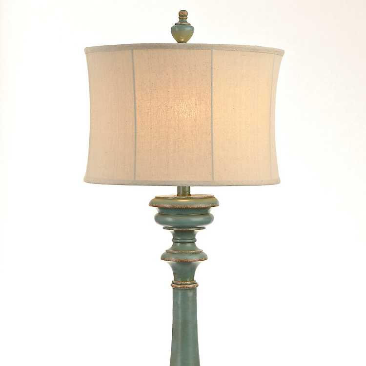 Burks turquoise floor lamp kirklands for Kirklands turquoise floor lamp