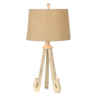 Weathered White Berkshire Table Lamp