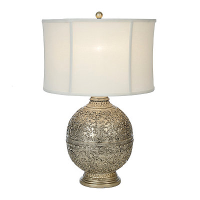 Lilly Silver Filigree Table Lamp