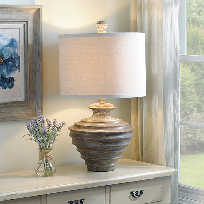 Debar Washed Brown Table Lamp