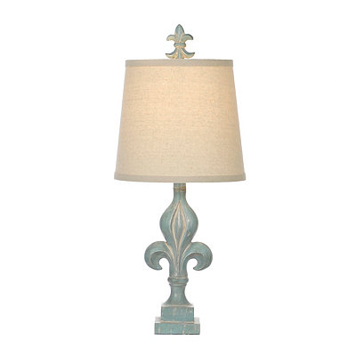 Cibali Blue Fleur-de-lis Table Lamp