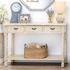 Cream Tiffany Twist Console Table