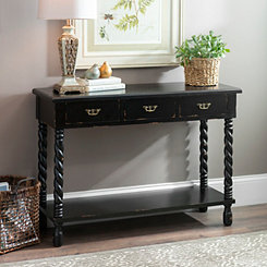 Black Tiffany Twist Console Table