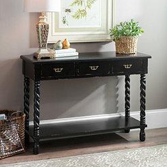 Black Tiffany Twist Console Table