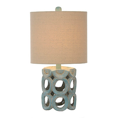 Blue Ceramic Circles Table Lamp