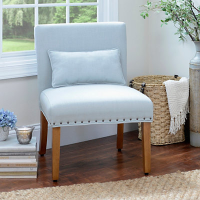 Parker Blue Slipper Chair