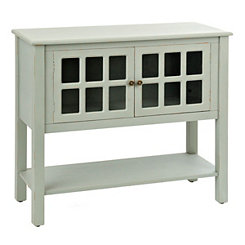 Blue Window Pane Console Table