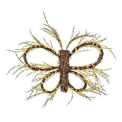 Yellow Twig Butterfly Wreath