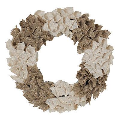 Burlap Curl Wreath