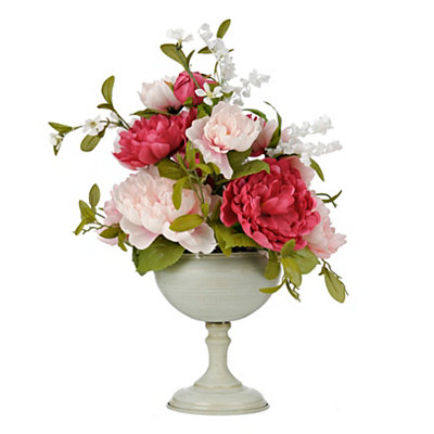 Pink Peony Goblet Arrangement