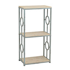 Distressed Blue and Cream 3-Tier Shelf