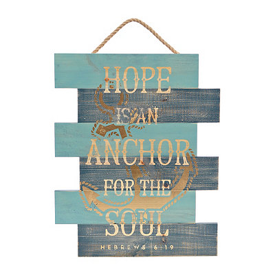 Hope Anchors the Soul Wooden Plaque