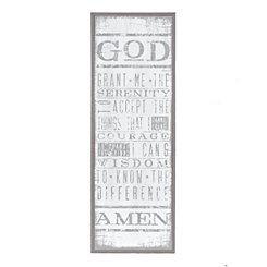 Whitewash Serenity Prayer Wooden Plaque