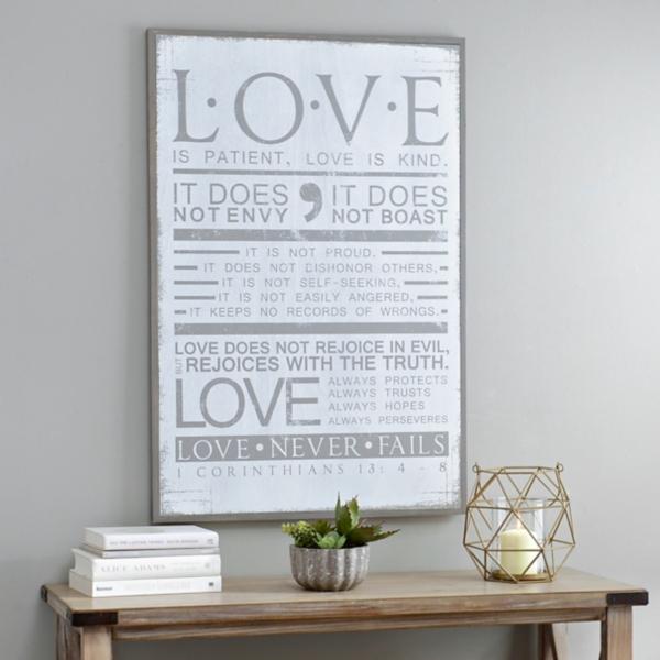 Love Is Patient Wooden Plaque