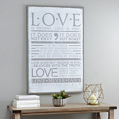 Love is Patient Wooden Plaque