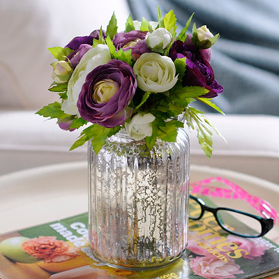 Purple and White Ranunculus Mix Arrangement