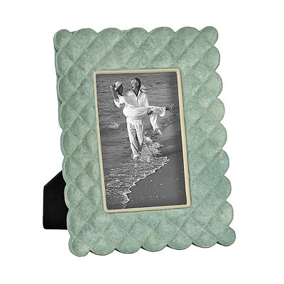 Harper Scalloped Blue Picture Frame, 4x6