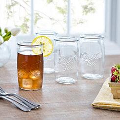 Sweet Tea Highball Glasses, Set of 4