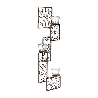 Bronze Patchwork Panels Sconce