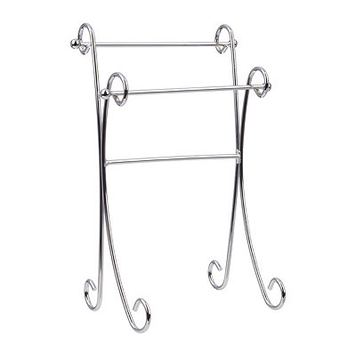 Silver Swirl Hand Towel Stand