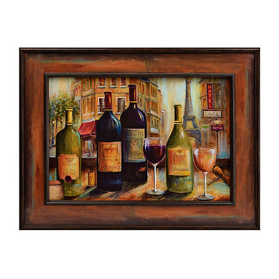 Wine Café Framed Art Print
