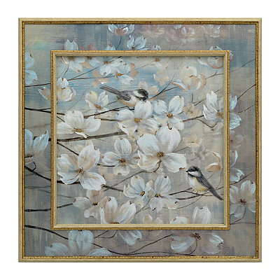 White Flower Blooms Framed Art Print