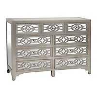 Libby Silver Mirrored 9-Drawer Dresser