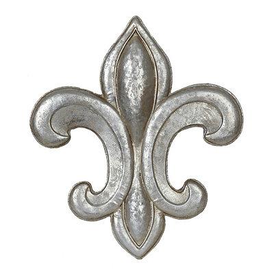 Silver Fleur-de-Lis Metal Plaque