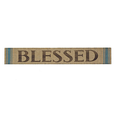 Burlap Blessed Wall Plaque