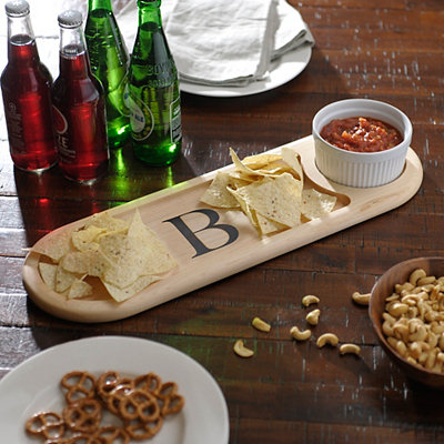 Monogram B Dip Bowl and Serving Board Set