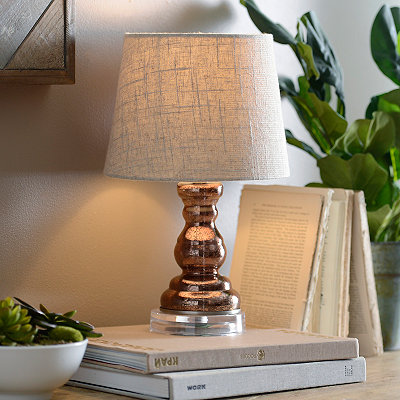 Mini Bronze Mercury Glass Table Lamp