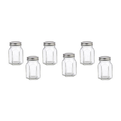 Octagon Canning Jar Glasses, Set of 6