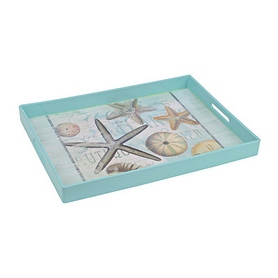 Light Blue Coastal Shell Tray