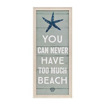 Coastal Too Much Beach Wooden Plaque