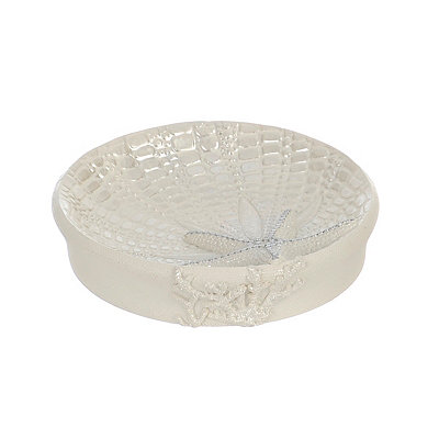 Ivory Sequin Shell Soap Dish