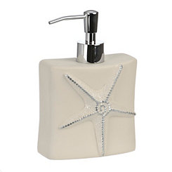 Ivory Sequin Shell Soap Pump