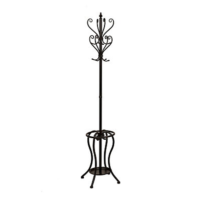 Black Metal Scroll Coat Rack