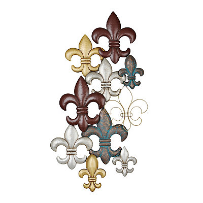 Layered Fleur-de-lis Metal Plaque