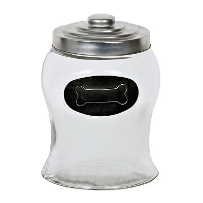 Silver Bone Dog Treat Jar