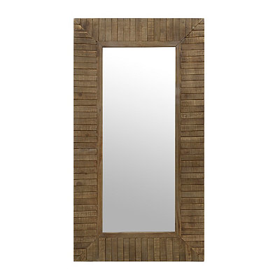 Natural Wood Plank Framed Mirror, 23x43 in.