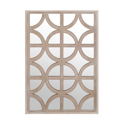 Geometric Grid Decorative Mirror, 25x37 in.