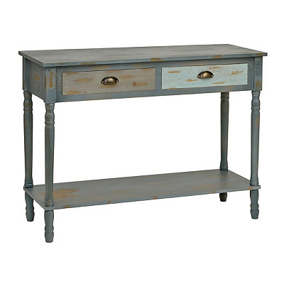 Blue Ombre 2-Drawer Console Table