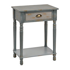 Distressed Blue Ombre Side Table