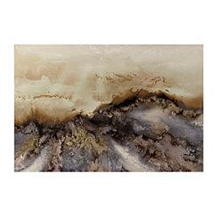 Earthy Geode Canvas Art Print
