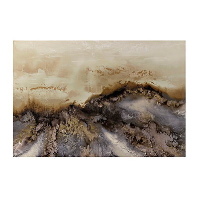 Earthy Geode Canvas Art Print