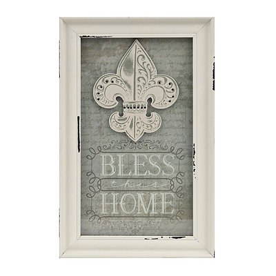 Bless This Home Fleur-de-Lis Shadowbox