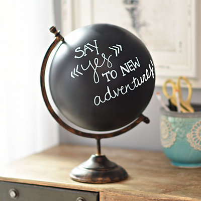 Decorative Chalk Globe