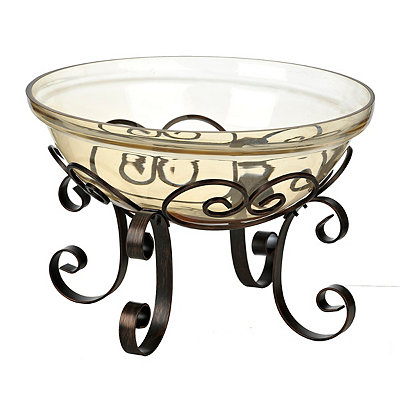 Bronze Luster Bowl and Stand