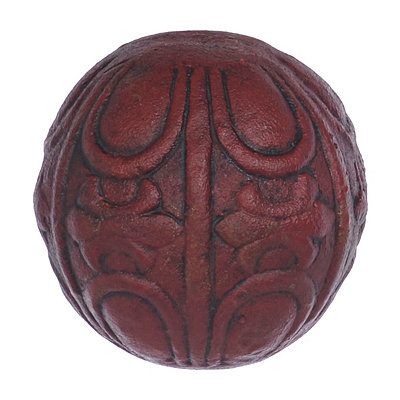 Embossed Red Terra Cotta Orb