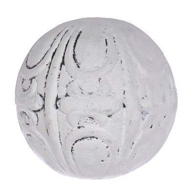 Embossed Cream Terra Cotta Orb